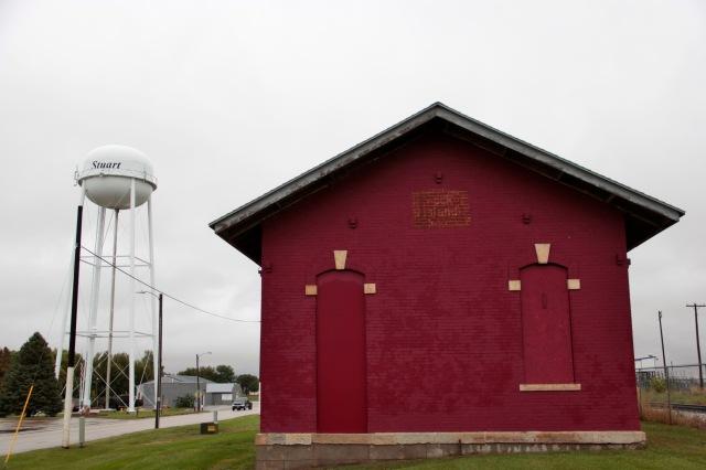 Rail station, Stuart, iowa